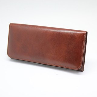 Italian leather - long clip (with movable single storage folder)