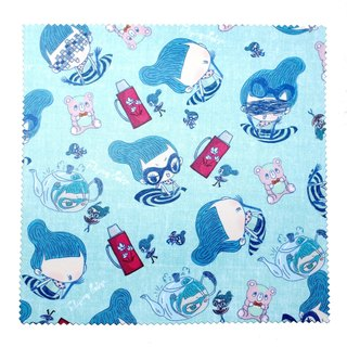 Glasses cloth wipe mirror cloth. Flying Sofye Su Fei cute illustration