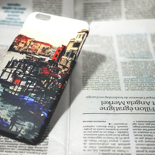 【Good to travel】 mobile phone shell ◆ ◇ ◆ Canal front station ◆ ◇ ◆ for Iphone 5 / 5S / SE, 6 / 6S, 6 + / 6S +, 7/7 +, 8/8 + / X