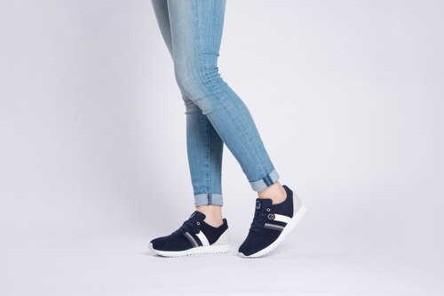 RETRO RUNNING SHOES Navy ULTRASUEDE Eco-friendly  shoes for WOMEN