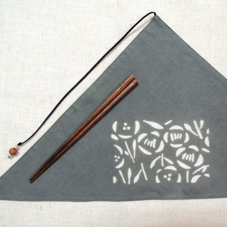 Mumu [vegetation] Terminalia leaf vegetable dyes stained dark gray green triangle chopsticks sets (Nordic Wind Flowers)