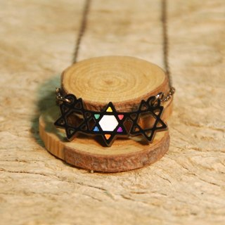 Hexagram / color style / short chain / acrylic material
