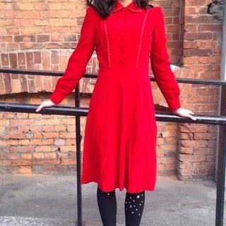 ~ Re: i fashion studio ~ exquisite velvet cloth retro red dress