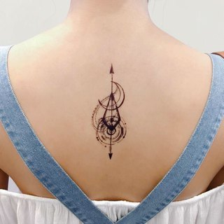 LAZY DUO Artistic Delicate Arrow Moon River Spiritual Temporary Tattoo Stickers