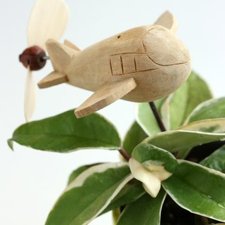 Creative flower holder can be used with houseplants - small aircraft (propeller movable)