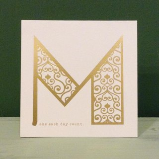 Bronzing letter card envelope sticker group -M