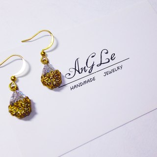 ❡ flowers rhinestone earrings