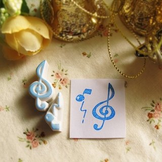 Apu hand-painted rubber melody notes 2 pieces