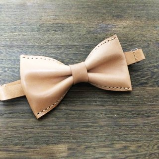 Italian colors vegetable tanned leather bow tie Bowtie