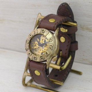Handmade watch HandCraftWatch hand-rolled Brass Mens [BHW014] SV / BK