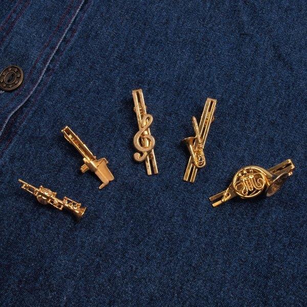 │moderato│ dream lover of classical music symphony notes   trombone   piano    clarinet   tie clip   brooch   vintage. Personality retro accessories ... 1a0d1801e