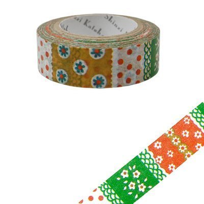 Shinzi Katoh Kato Shinji French illustration paper tape (Nordic flower painting 1 KS-MT-10006)