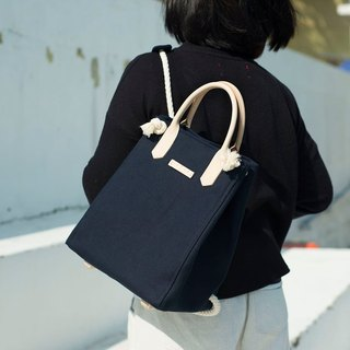 3-way Canvas backpack (Navy Color)