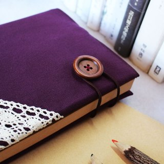 Hand clothes for the book [notebook] Touch of the Light luxurious purple canvas subsection (Big = A5)
