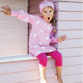 [Nordic children's clothing] Swedish organic cotton elastic pants cherry / pink (suitable for 6M-8Y)
