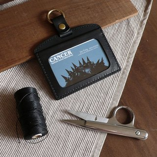 <隆鞄工坊>Hand sewing certificate set / identification card set / card holder (without strap)