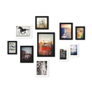 HomePlus Photoframe Black+White 10PCS Magazine Decor