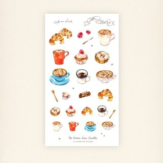 Coffee Shop II transparent sticker set