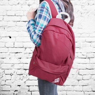 purely. Outing - After rucksack - plain backpack [dark maroon]