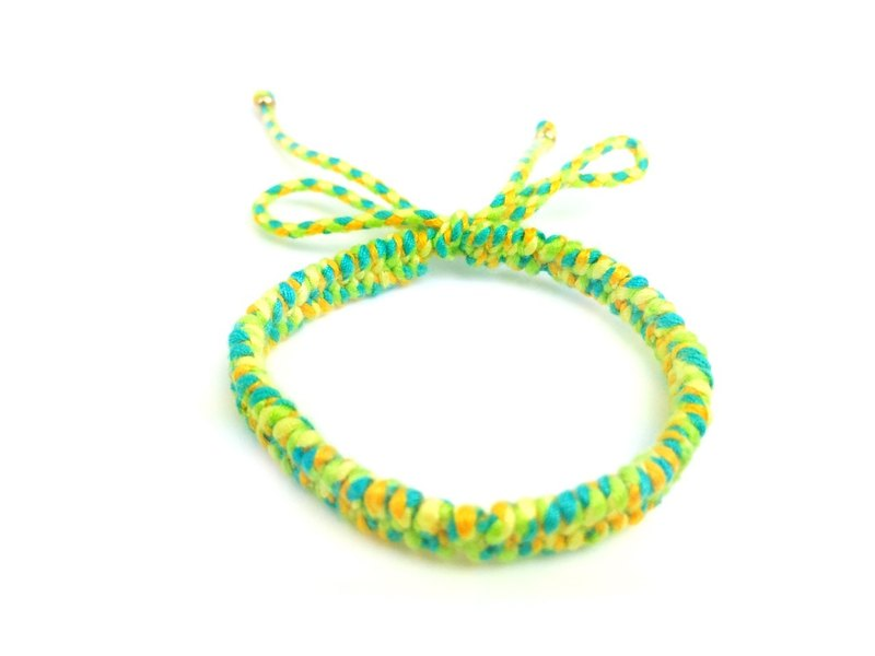 """Blue light green orange Japan imported hand-woven rope x"""