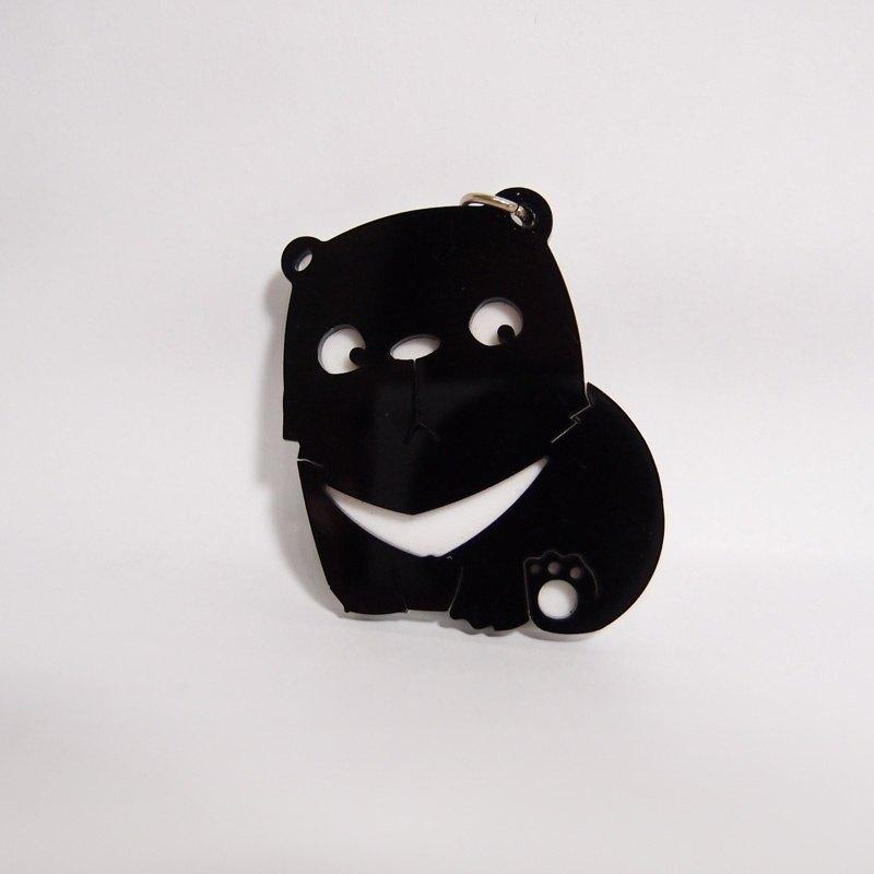 我愛動物園 - 黑熊弟弟 壓克力 鑰匙圈 - 單面