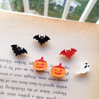 ◤ mischief party hand-painted earrings (one pair into the 4 optional) / ear clip-on can be changed - Halloween promotions