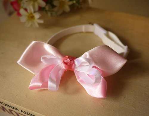 Safe pet collar x small butterfly. Pink cat dog / neck strap / bow tie / twitter ♥ cherry pudding Cherry Pudding ♥