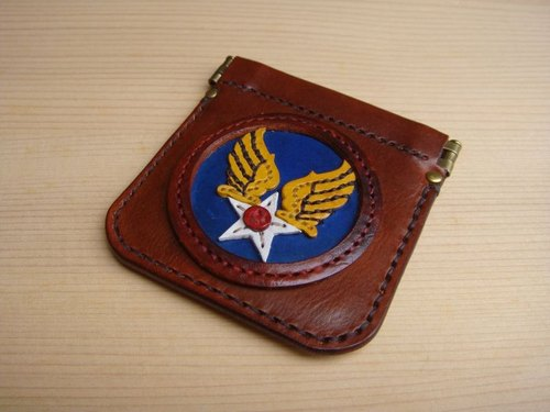 [ISSIS] US AIR FORCE handmade leather purse