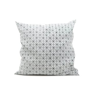 Geo Origami Pillow Black and White M