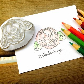 Cover which hand seal - small size [Rose] for the invitation / greeting card / can be off the bar