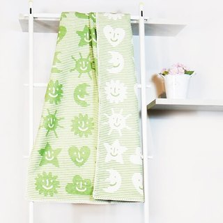 Sweden Klippan Gentle cotton baby blanket - Small green universe