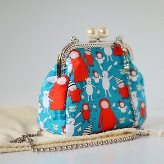 Pearl framed Purse - Ruby Red