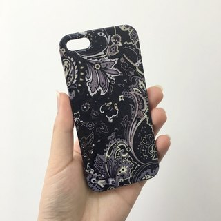 Black floral 65 3D Full Wrap Phone Case, available for  iPhone 7, iPhone 7 Plus, iPhone 6s, iPhone 6s Plus, iPhone 5/5s, iPhone 5c, iPhone 4/4s, Samsung Galaxy S7, S7 Edge, S6 Edge Plus, S6, S6 Edge, S5 S4 S3  Samsung Galaxy Note 5, Note 4, Note 3,  Note 2