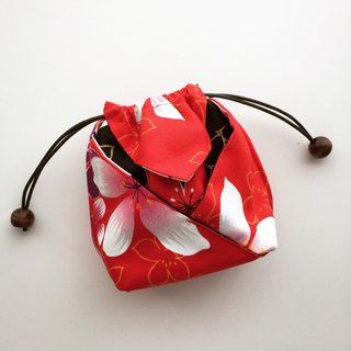 Purse String Bags - Red (Tung Blossom, Lunar New Year)