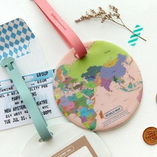 Indigo- World Map Travel Tag - Color, IDG02886