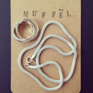 MUFFëL Italy 925 Silver Silver Series - Italian Forever meson suit even 7 ring necklace