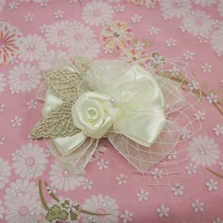 Western-style flower hair clips rose ribbon bride headdress hair accessories wedding gift