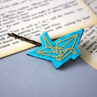 Handmade embroidered cannetille Origami bird hair bobby pin
