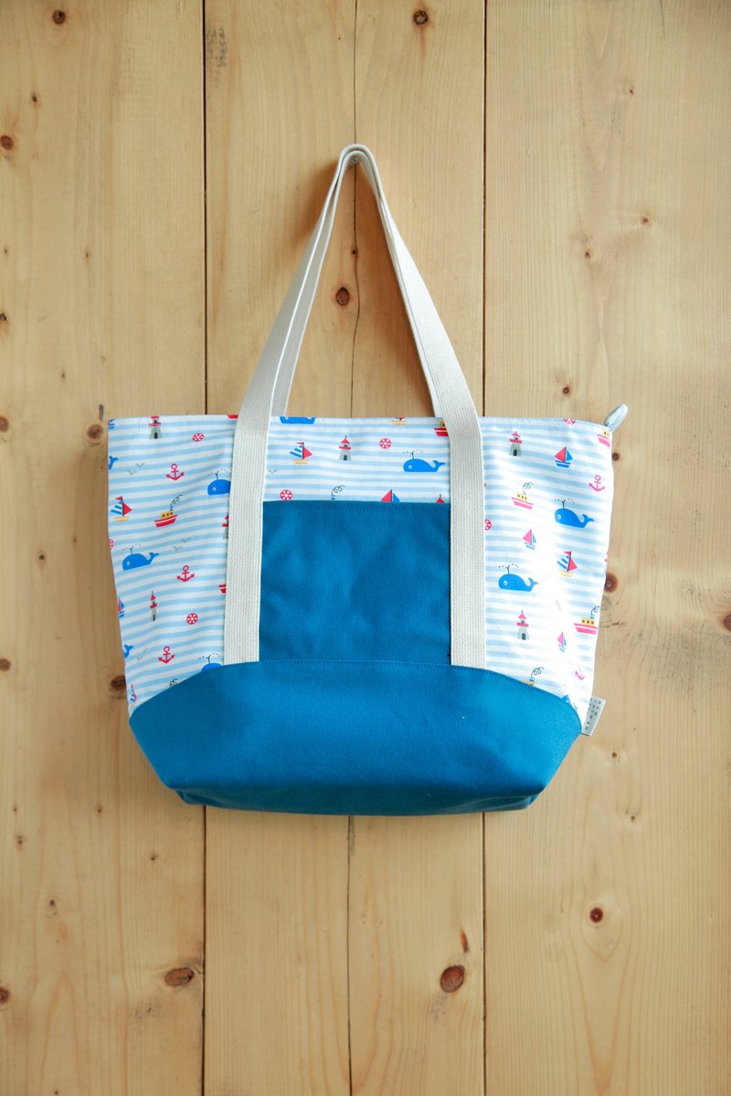 [Early spring shoulder bag] childlike ocean blue