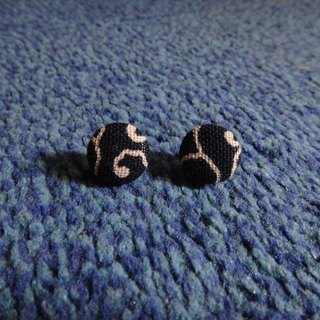 (C) dark blue cloth around cloud _ button earrings random shipments [] C22BT / UY85