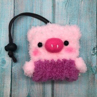 Marshmallow Animal Key Bag - Small Key Bag (Powder Pig)
