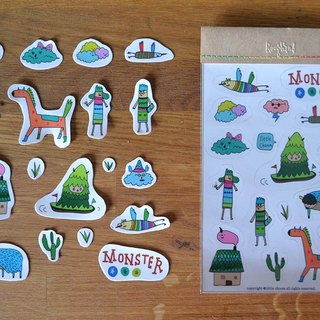 ✭✭✭Roughand x little choom Monster Sticker 小怪獸第三款