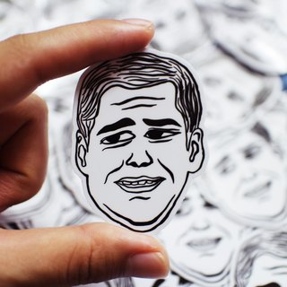 "Movie ""The Truman Show"" Stickers 2pcs"