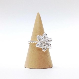 Martin's Secret || Frosty Forest series || || frost forest winter star flower Silver Ring