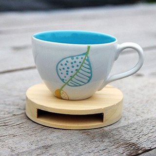 【Yellow Cedar】Cell Phone Sound Amplifier x Round Coaster