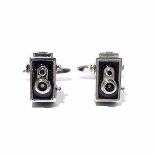 Antique Camera Dual Cufflinks Vintage Camera 2 lens Cuffinks