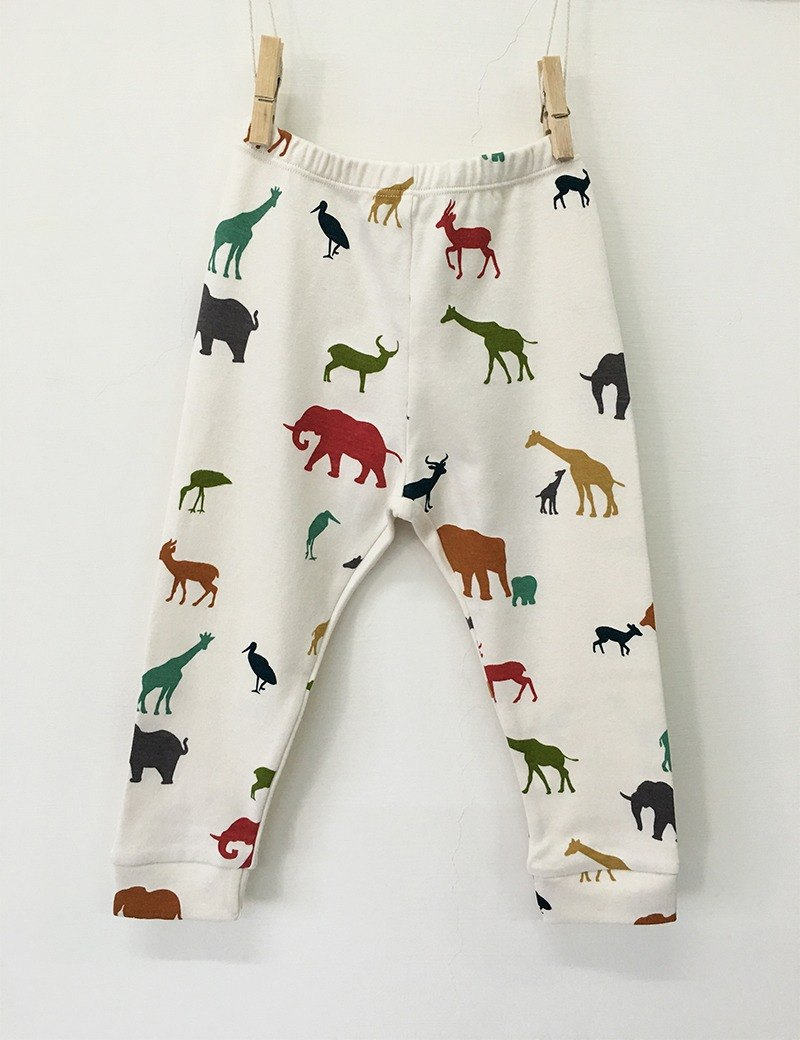gujui love animals - organic cotton trousers