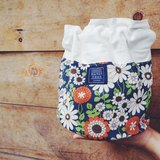 :: :: Dorsal bucket bag bangs tree _ summer small flowers blue (spot supply)