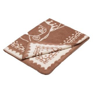 Fabulous Goose ultra-soft bristles blanket organic cotton Series - Circus Bear (Mocha)