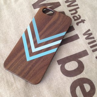 Teal Chevron Pattern Real Wood iPhone Case for iPhone 6/6S, iPhone 6/6S Plus